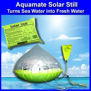 Aquamate Solar Still Emergency Water Purification Inflatable Kit