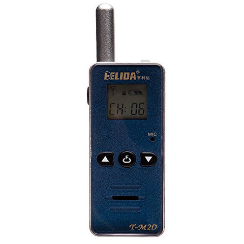 HELIDA T-M2D Mini LCD Display Walkie Talkie 128 Channel 400-520MHZ Two Way Radio with Earpiece