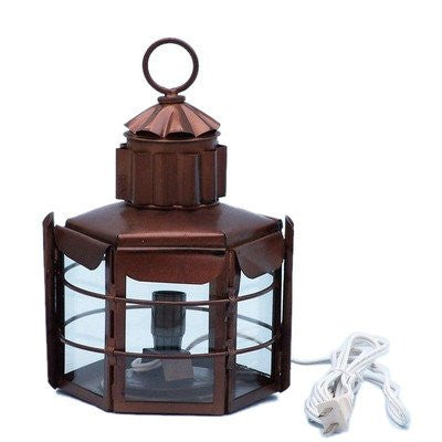 "Clipper Electric Lamp Size: 15"" H x 9"" W x 8.5"" D, Finish: Antique Copper"