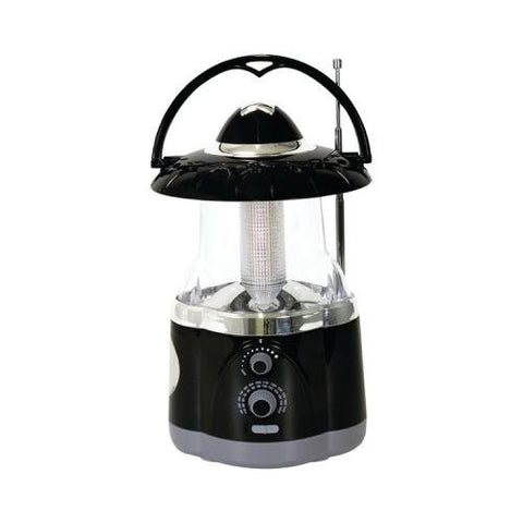 Northpoint 190507 12-Led Lantern With 4-Led Flashlight & Am/Fm Radio (Black)