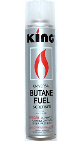 12 Pack of King Butane 5x Quintuple Refined Refill