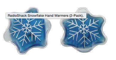2-Pack Reusable Snowflake Pocket Hand Warmers
