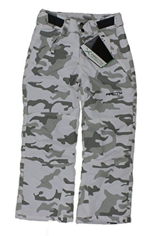 Arctix Youth Snow Pants with Reinforced Knees and Seat, Snow Camo, Large