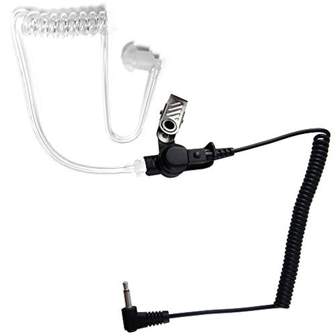 2.5mm Police Listen Only Acoustic Tube Earpiece Headset for Radio Speaker Mic by The Comm Guys