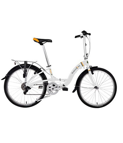 "Briza D8 24"" Folding Bicycle- Frost White"