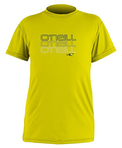 O'Neill Wetsuits Boy's UV Sun Protection Toddler Skins Short Sleeve Tee Rashguard, Yellow, 3