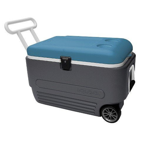 MaxCold 60 qt. Wheeled Cooler, Blue ()