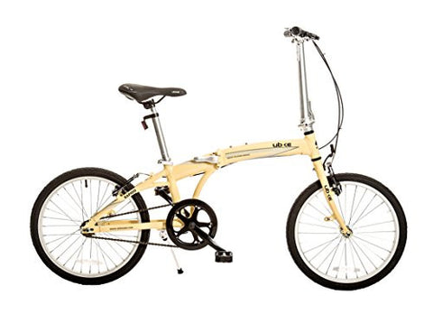 "Bike USA Ubike Rapido Single Speed Folding Bicycle with 20"" Wheel, 10""/One Size"