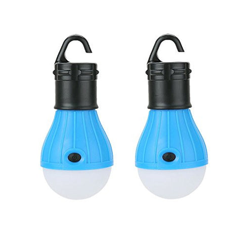 Generic Portable LED Lantern Tent Light Bulb for Camping Hiking Fishing Emergency Light Battery Powered for Outdoor and Indoor Pack of 2