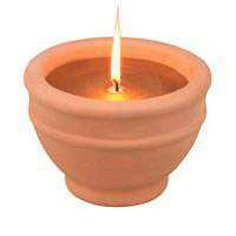 6/PACK MINTCRAFT C57655-3L CITRONELLA CANDLE BOWL TERACOT