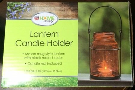 Home Design Lantern Candle Holder (orange)