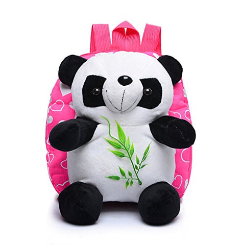 Girls Plush Panda Backpack with Bamboo