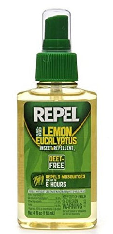 Repel Plant Based Lemon Eucalyptus Insect Repellent 4 fl oz (118 ml),4 pk