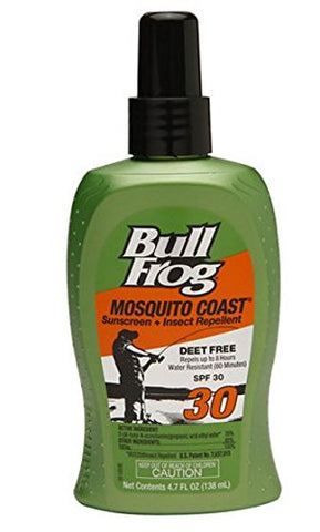 Bull Frog Mosquito Coast, Sunscreen with Insect Repellent, SPF 30 4.7 oz,3 PK