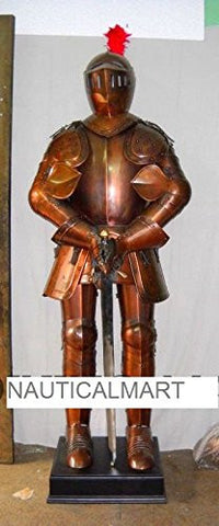 ANTIQUE MEDIEVAL LARP KNIGHT FULL SUIT OF ARMOUR HALLOWEEN COSTUME BY NAUTICALMART