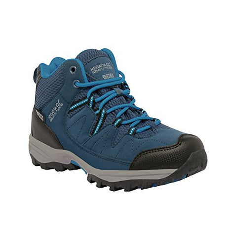 Regatta Great Outdoors Childrens/Kids Holcombe Mid Cut Waterproof Walking Boots (12 Child US) (Blue Wing/Methyl)