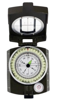 2 pc Fire starting And Military Sighting Compass Navigation-Orienteering Set
