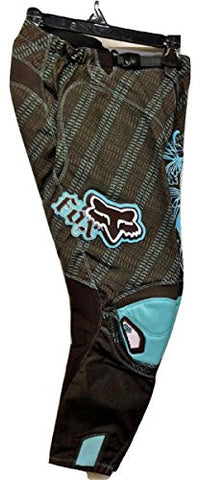 Fox Racing Girls/Youth 180 Brown/Blue MX Motocross Racing Performance Pant #39 Size 10 (26)