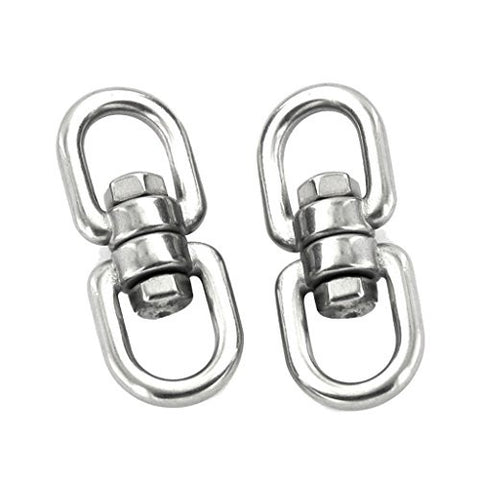 2pcs Stainless Steel Rotation Quick Hook Buckles for Outdoor Climbing Hiking
