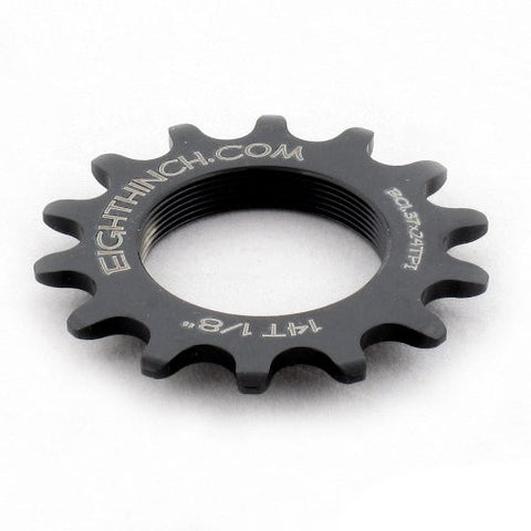 "EIGHTHINCH CNC TRACK FIXIE FIXED GEAR COG 1/8"" 14T 14 TOOTH"