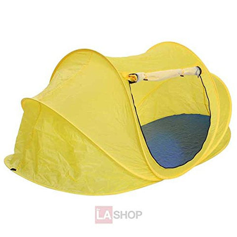 1-2 Person Portable Camping Pop-Up Beach Tent - Yellow