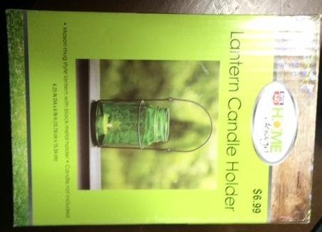 Home Design Lantern Candle Holder (Green)