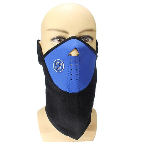 BephaMart Blue Color Motorcycle Cycling Biker Ski Snowboard Neck Face Mask Shipped and Sold by BephaMart