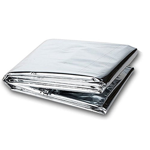 MeanHoo 5 PACK 82.6x51 inch Silver Emergency Blanket Waterproof, Mylar Thermal Blankets for Backpacking, First Aid Kit, Outdoor Exercise