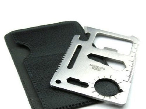 11 in 1 Multifunction Credit Card Survival Knife Camping Tool