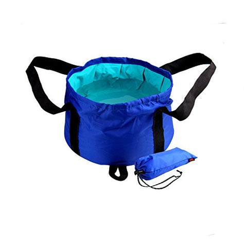 Portable Collapsible Foldable Wash Basin Sink Bucket Boiling Water Resistant Mini Water Bag 15L For Outdoor Washing Camping Hiking Travelling Fishing Durable Design with Carrying Pouch