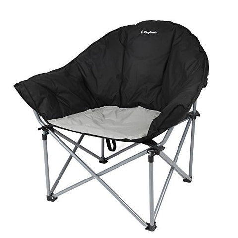 "KingCamp Oversize(33""x30"") Deluxe Padded Portable Strong Stable Folding Sofa Chair for Camping, Hiking, Carry Bag Included"