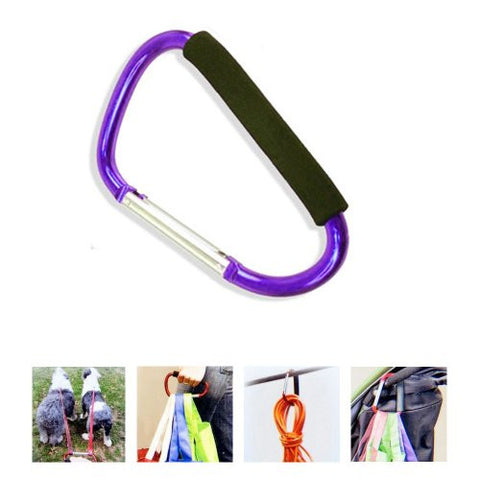 Jumbo Carabiner Hook Max Force Extra Large Spring Snap Hook Cushion Grip Purple