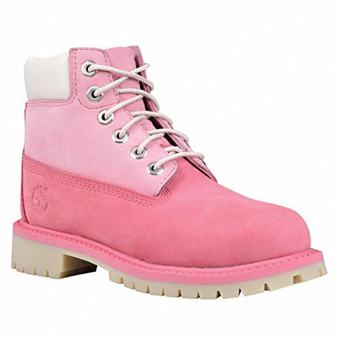 "Timberland 6"" Waterproof Boots Unisex Juniors (6.5 Y US, Pink/Pink )"