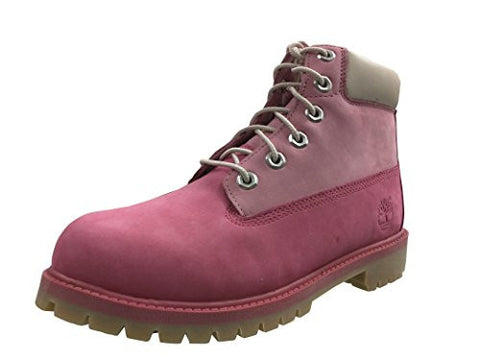 "Timberland 6"" Waterproof Boots Unisex Juniors (4.5 D(M) US, Pink/Pink )"