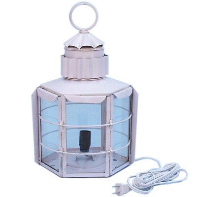"Clipper Electric Lamp Size: 15"" H x 9"" W x 8.5"" D, Finish: White"