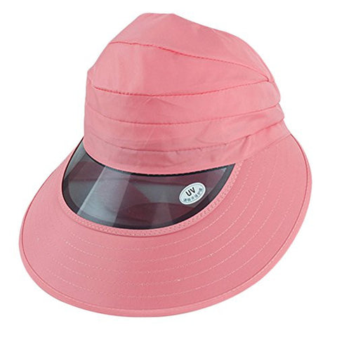 Outdoor Large Brimmed Hat Cap Sun Protection For Summer Light Pink