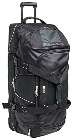"Portal 34"" Wheeled Duffle Organized Roller Bag with Split-Level Design"