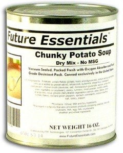 1 Can of Future Essentials Canned Chunky Potato Soup Dry Mix