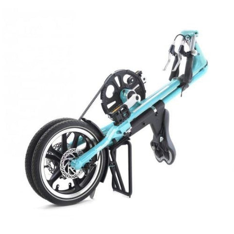 "2015 STRiDA LT Turquoise 16"" Lightweight Folding Bike-Open & Fold in 10 Seconds!"