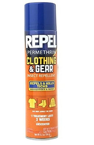 Repel Permethrin Clothing & Gear Insect Repellent Aerosol 6.5 oz (184 g),5 pk