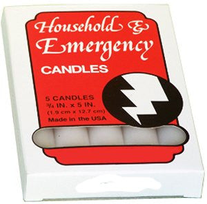 Emergency Candles Slow Burning Case of 60