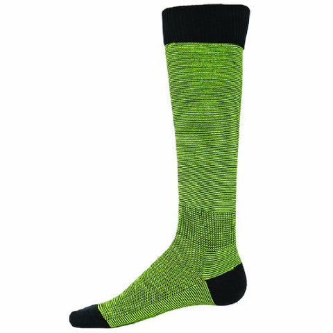 Red Lion Skinny Knee High Soccer Volleyball Sock ( Black / Neon Green - Large )