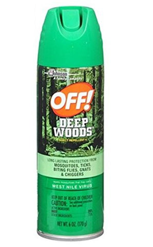 Deep Woods Off! Deep Woods Insect Repellent V, 25% DEET 6 oz,4 pk