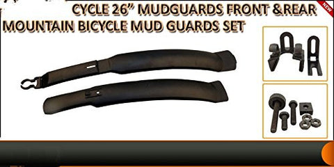 "1 PairX 26""MOUNTAIN ROAD CYCLE BIKE BICYLE FRONT & REAR TIRE MUDGUARDS FENDERS SET KIT"