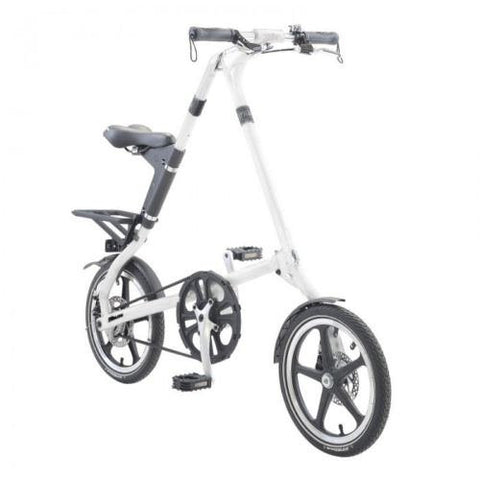 "2015 STRiDA LT White 16"" Lightweight Folding Bike- Open & Fold in 10 Seconds!"
