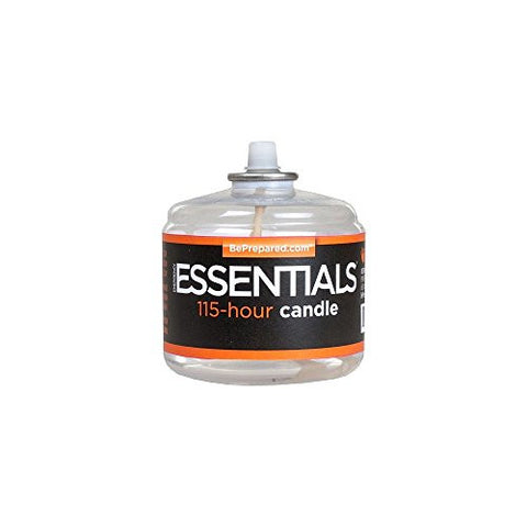 115 Plus Hour Emergency Camping Survival Long Burning Candle in Clear Mist. A Must Have for Any Bug Out Bag or in Any Preppers Arsenal!