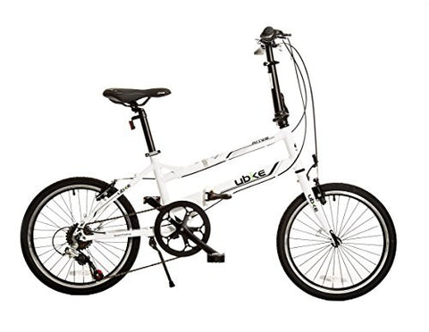 "Bike USA Ubike Arrow 7-Speed Folding Bicycle with 20"" Wheel, 10""/One Size"