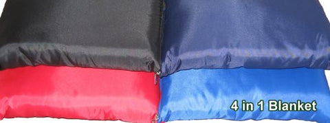 4 in 1 Fleece Blanket with Waterproof Backing-Black