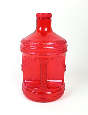 1 Gallon Water Bottle Red BPA Free Plastic Jug Canteen Reusable Container Drinking H2O Aqua New