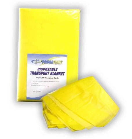 "Primacare CB-6821 Disposable Transport Blanket, 90"" Length x 60"" Width, Yellow"